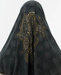 Al-Amira Hijab - Dark Grey 4- Hidden Pearls