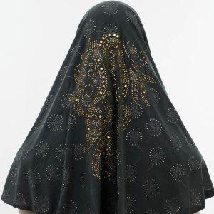 Al-Amira Hijab - Dark Grey 4- Hidden Pearls