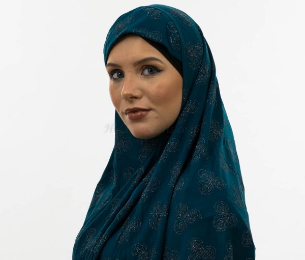 Al-Amira Hijab - Teal 3- Hidden Pearls