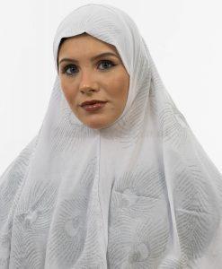 Al-Amira Hijab - White- Hidden Pearls
