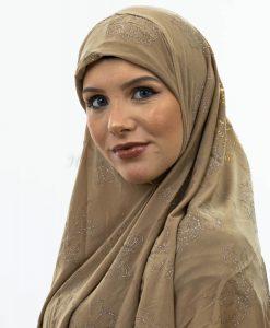 Women's Glitter Al-Amira Hijab - Skin 1- Hidden Pearls