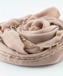 Everyday Pearl Hijab - Light Peach - Hidden Pearls