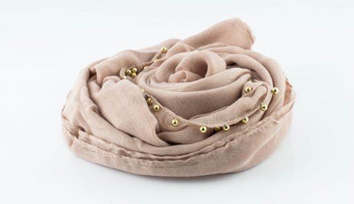 Everyday Pearl Hijab - Light Peach - Hidden Pearls