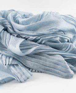 Metallic Pleated Hijab - Aquamarine