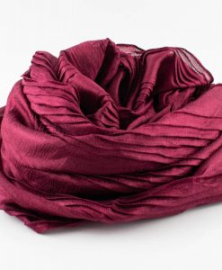 Metallic Pleated Hijab - Rosewood
