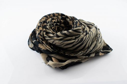 Everyday Mixed Leopard Print Hijab - taupebrown - Hidden Pearls