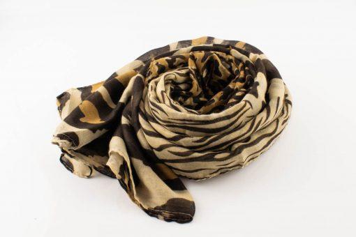 Everyday Mixed Leopard Print Hijab - Coffee - Hidden Pearls