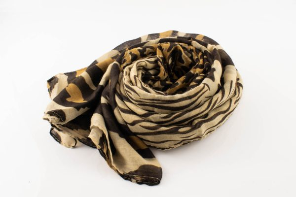 Everyday Mixed Leopard Print Hijab - Coffee - Hidden Pearls