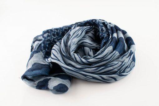 Everyday Mixed Leopard Print Hijab - Denim Blue - Hidden Pearls