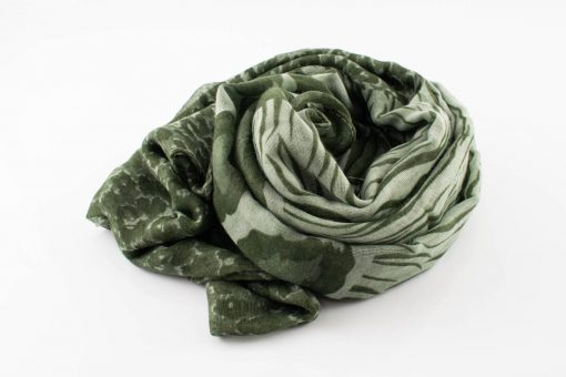 Everyday Mixed Leopard Print Hijab - Green2 - Hidden Pearls