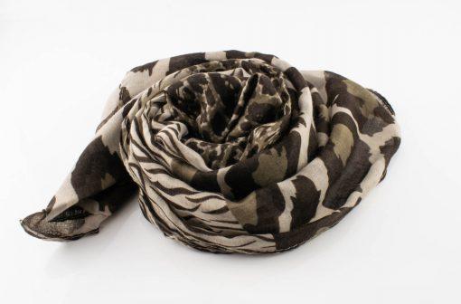 Everyday Mixed Leopard Print Hijab - Latte - Hidden Pearls