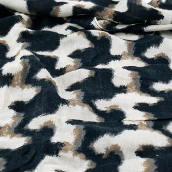 Touch of Cream Leopard Print Hijab