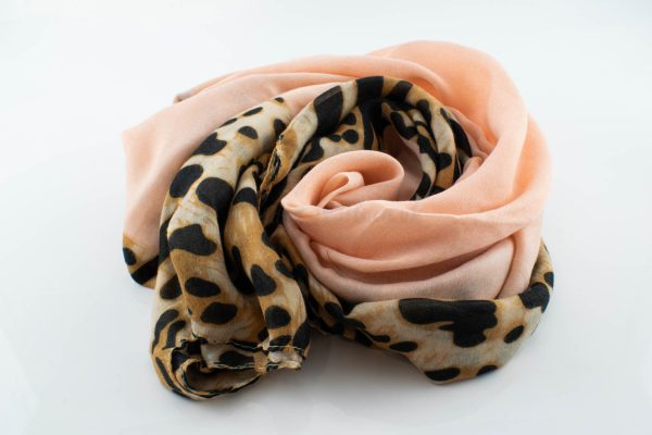 Deluxe Leopard Print Hijab - Flamingo - Hidden Pearls
