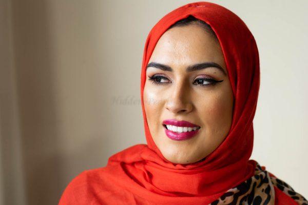 Deluxe Leopard Print Hijab - Scarlet - Hidden Pearls