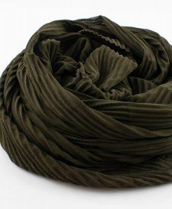 Crinkle Chiffon Army Green