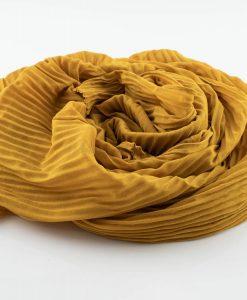 Crinkle Chiffon Mustard