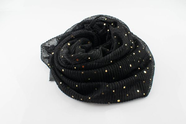 Sparkle Crinkle Hijab - Hidden Pearls - black