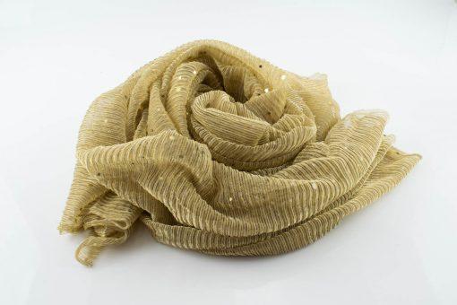 Sparkle Crinkle Hijab - Hidden Pearls - - gold 3