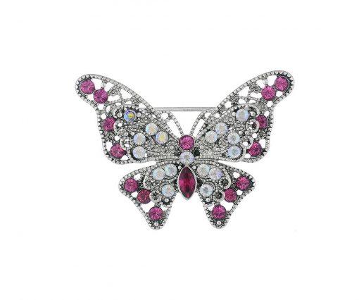 Vintage butterfly hijab brooch