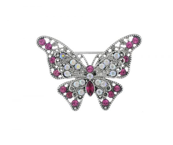 Vintage butterfly hijab brooch