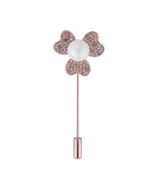 Floral Rose Gold PIn - Hidden Pearls