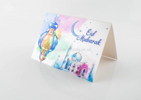 Eid Mubarak mosque Card