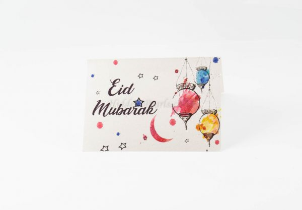 Hanging lanterns eid card
