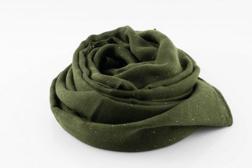 Everyday Glitter Hijab - Army Green -Hidden Pearls