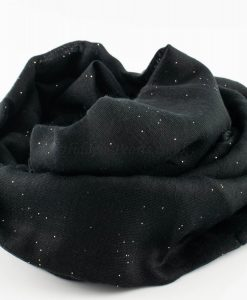 Everyday Glitter Hijab - Black -Hidden Pearls