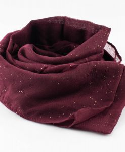 Everyday Glitter Hijab - Burgundy-Hidden Pearls