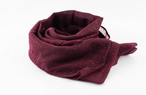 Everyday Glitter Hijab - Burgundy-Hidden Pearls