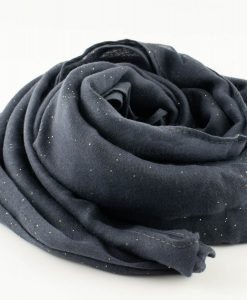 Everyday Glitter Hijab - Dark Grey -Hidden Pearls