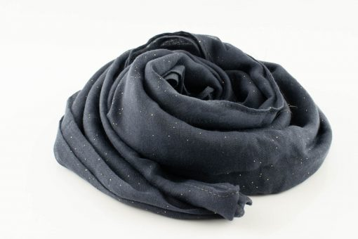 Everyday Glitter Hijab - Dark Grey -Hidden Pearls