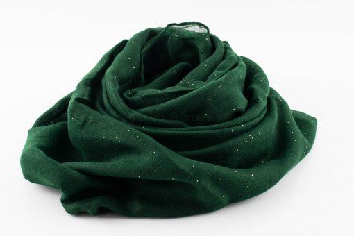 Everyday Glitter Hijab - Forest Green-Hidden Pearls