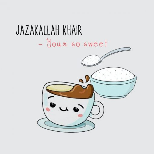 JazakAllah Khair Card - Greeting cards - Hidden Pearls