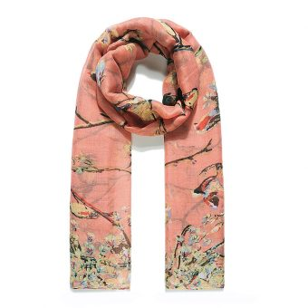 Blushing Blooms Hijab - Hidden Pearls - Peach2