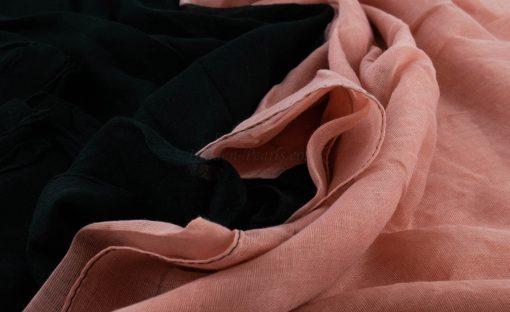 Ombre Hijab - Hidden Pearls - Black & Baby Pink