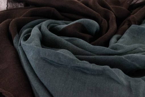 Ombre Hijab - Hidden Pearls - Chocolate and Grey