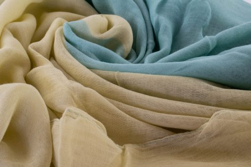 Ombre Hijab - Hidden Pearls - Turquoise & Cream