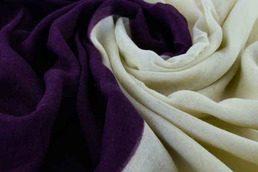 Ombre Hijab - Hidden Pearls - plum & White