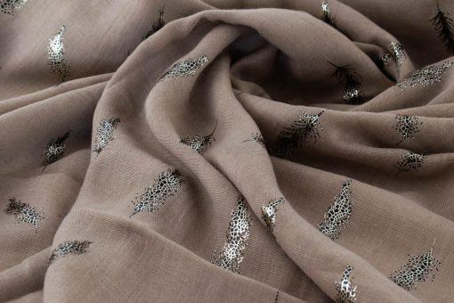 Sprinkle of Feathers - Hidden Pearls - gold on brown4.jpg