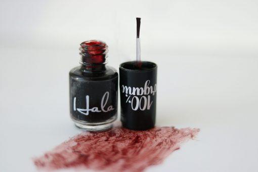 Hala! Nail Stain - Maroon - Hidden Pearls