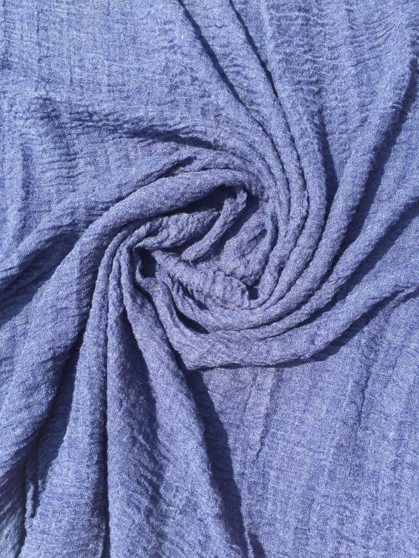 denim blue - everyday crimp hijab - hidden pearls