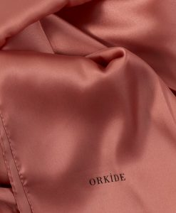 plain Silk - peach hijab - hidden pearls